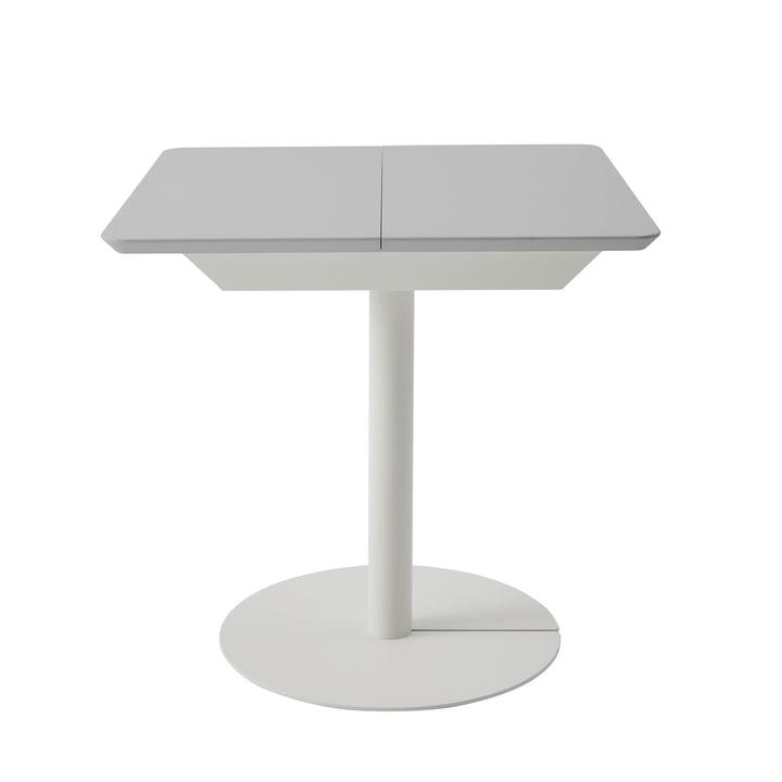 Duotable Schreibtisch von Müller Möbelwerkstätten in reinweiß (RAL 9010) / lichtgrau (RAL 7035)