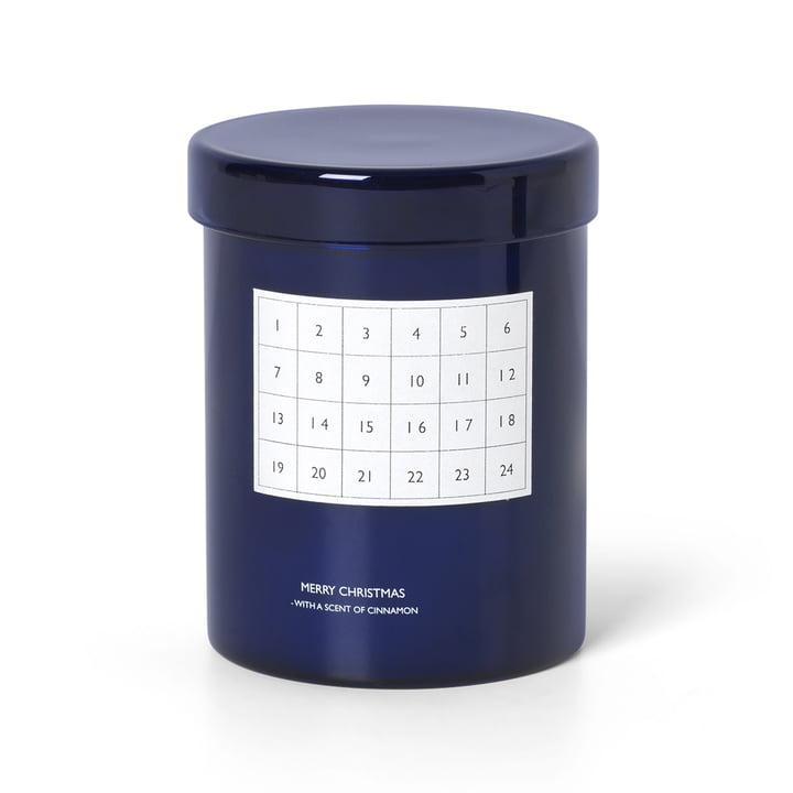 Scented Kalenderkerze von ferm Living in blau