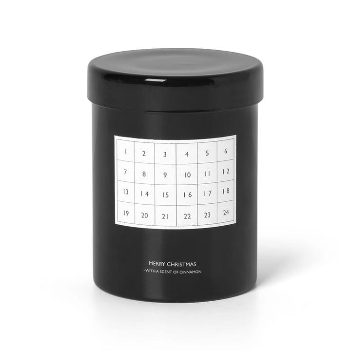 Scented Kalenderkerze von ferm Living in schwarz