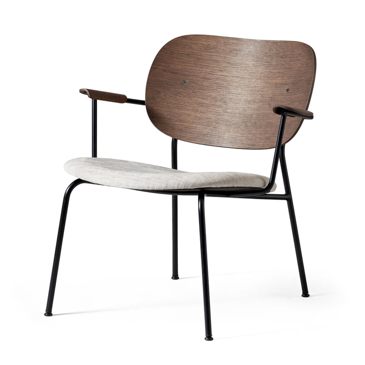 Co Lounge Chair, schwarz / Eiche gebeizt / Maple 222 von Menu