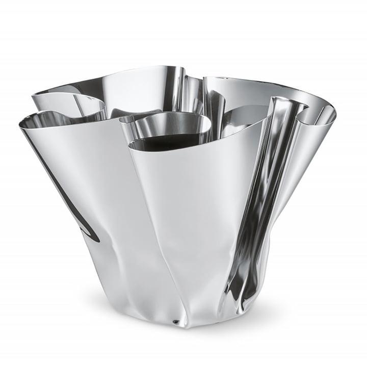 Margeaux Vase H 20 cm, Edelstahl von Philippi