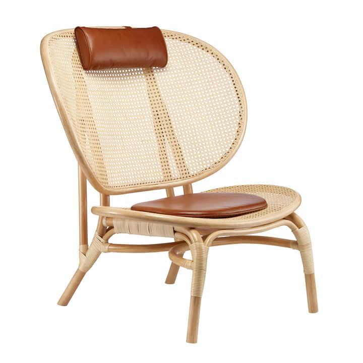 Nomad Lounge Sessel von Norr11 in Natur / cognac