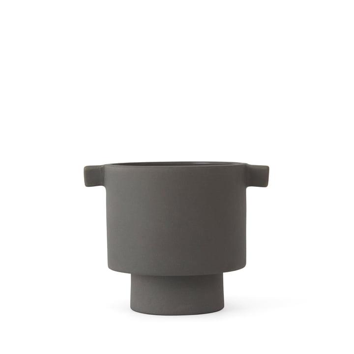 Inka Kana Übertopf, Ø 10.5 x H 10.5 cm, grau von OYOY
