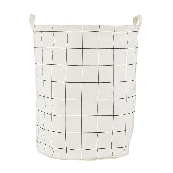 Wäschekorb Squares Ø 40 x H 50 cm von House Doctor in schwarz / weiß