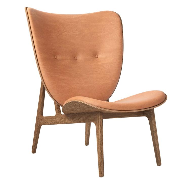 Elephant Lounge Sessel von Norr11 in Eiche geräuchert / Leder cognac (21000)