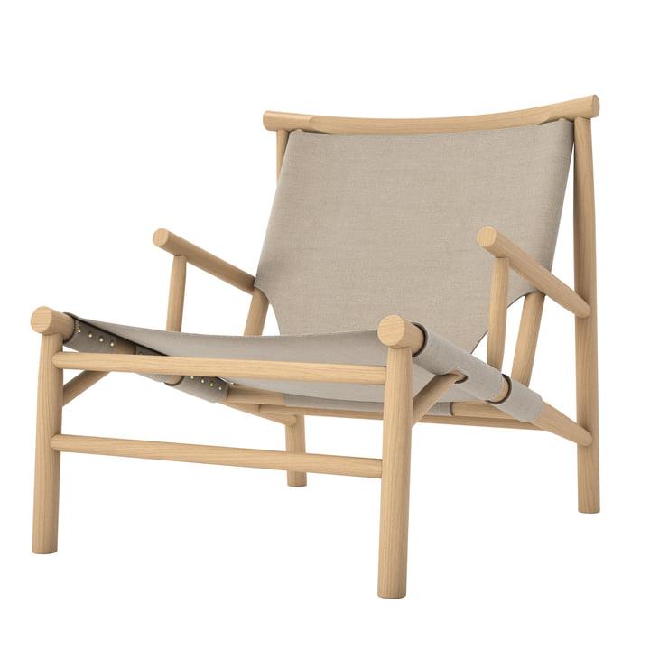 Samurai Lounge Chair von Norr11 in Eiche natur / Canvas