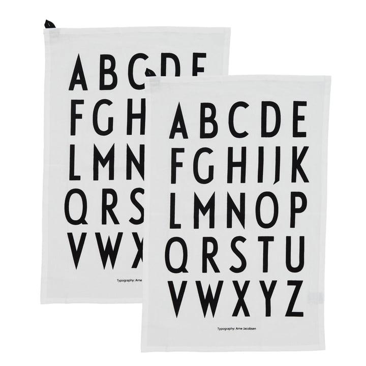 Classic Geschirrtuch von Design Letters in weiß (2er-Set)