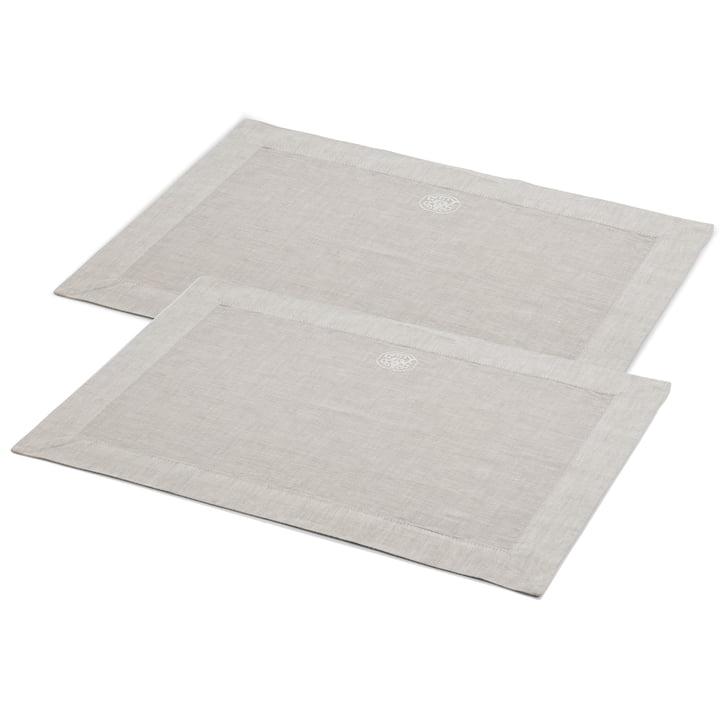 Plain Tischset rechteckig, 50 x 36 cm, grau (2er-Set) von Georg Jensen Damask