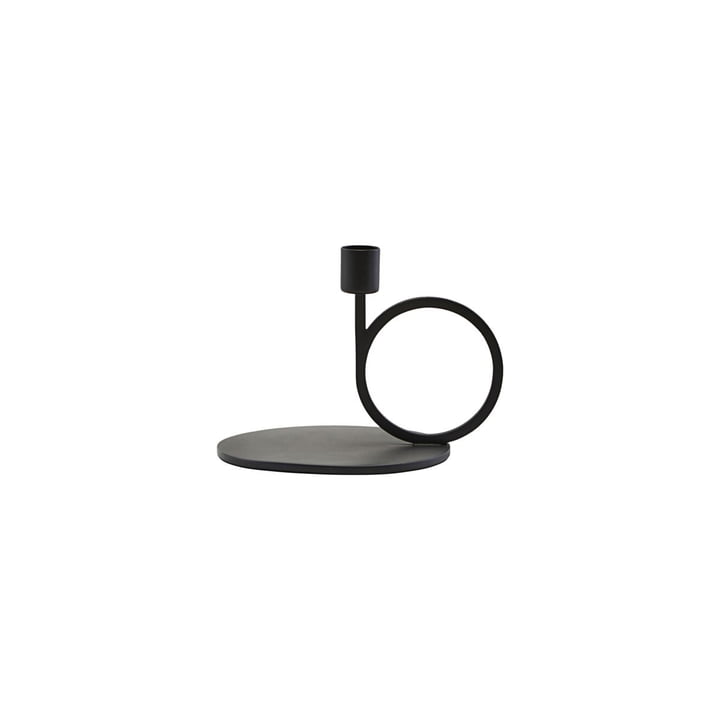 Kerzenständer Cirque H 12,8 cm, schwarz von House Doctor