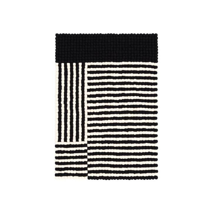 Lino Filzkugelteppich 70 x 100 cm von myfelt in schwarz / weiß
