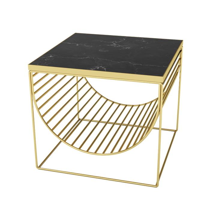 Sino Tisch / Magazinhalter von AYTM in gold / Marmor schwarz