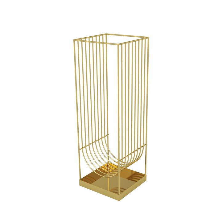 Curva Regenschirmständer von AYTM in gold