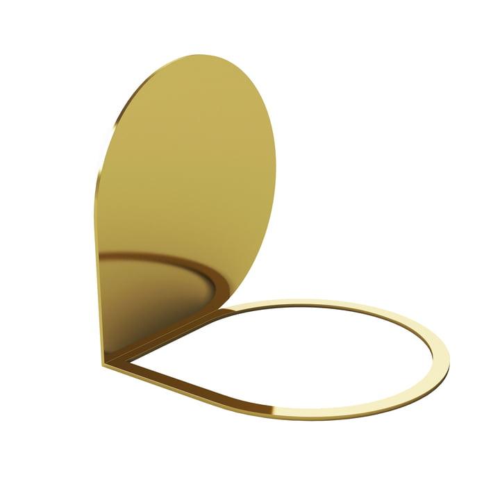 Stilla Buchstütze 14 x 14 cm von AYTM in gold