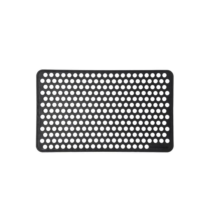 Gummi-Fußabtreter 45 x 75 cm dot von tica copenhagen in schwarz