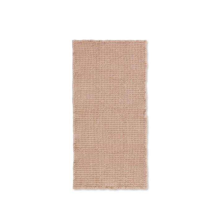 Organic Handtuch 100 x 50 cm von ferm Living in altrosa
