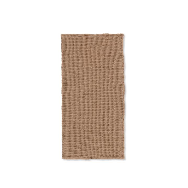 Organic Handtuch 100 x 50 cm von ferm Living in braun