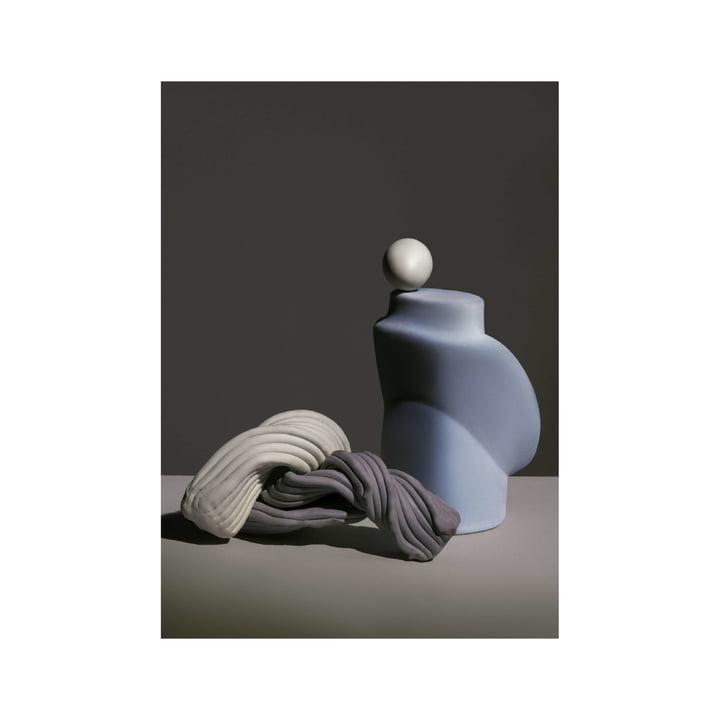 Nexus Poster 1 50 x 70 cm von ferm Living in dusty blue