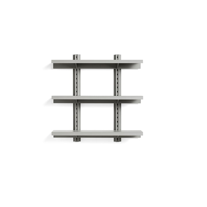 Standard Issue Wandregal 3 Regalböden 90 cm von Hay in sky grey