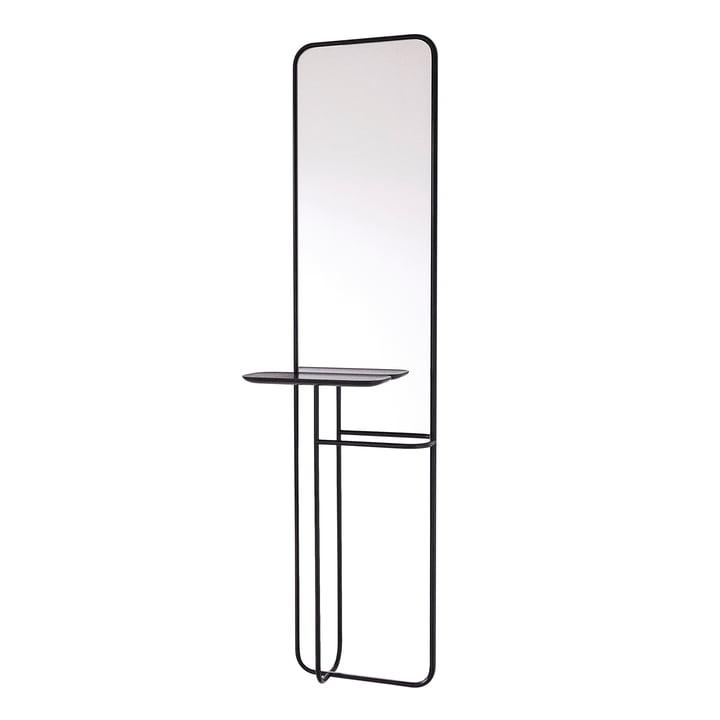 Concierge Spiegel mit Ablage von Caussa in schwarz