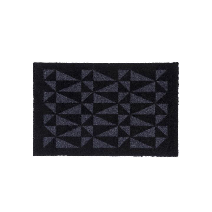 Graphic Fußmatte 40 x 60 cm von tica copenhagen in schwarz / grau