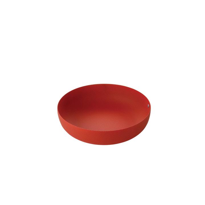 Schale Ø 24 x H 6 cm von Alessi in rot mit Reliefdekor