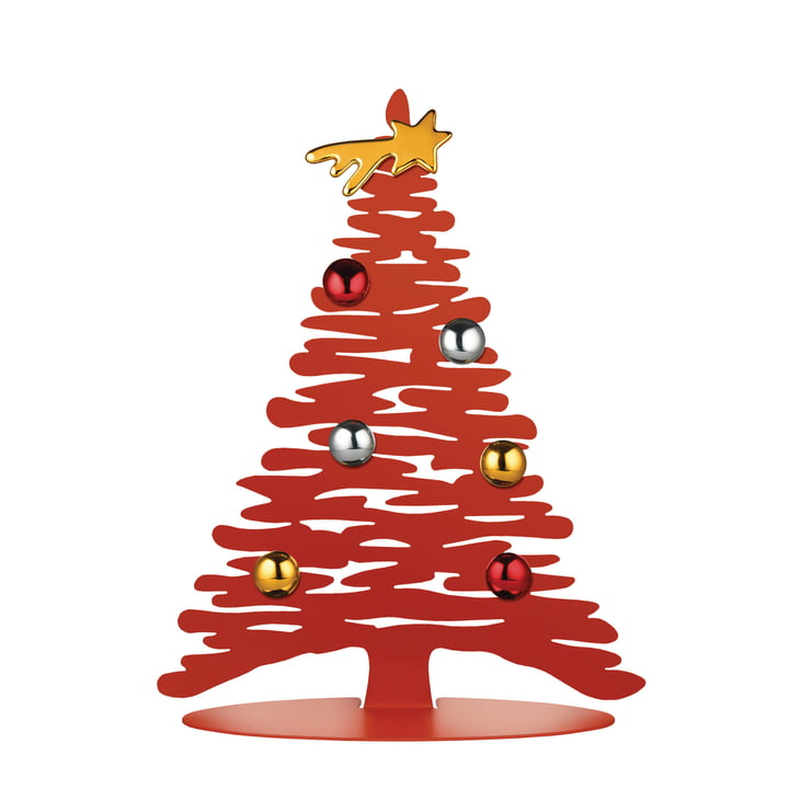 Bark for Christmas H 30 cm von Alessi in rot