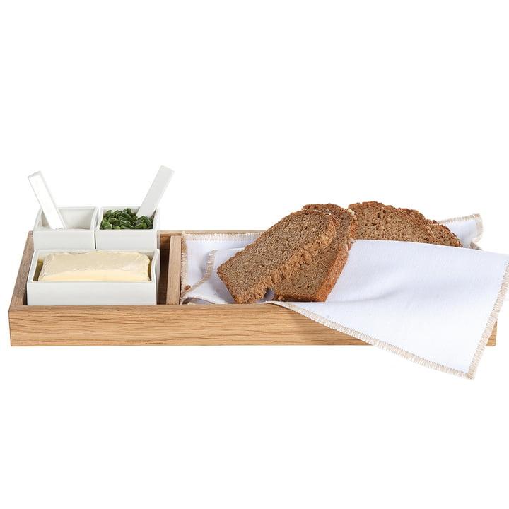 Brot, Butter & Salz, Eiche / weiß von Raumgestalt