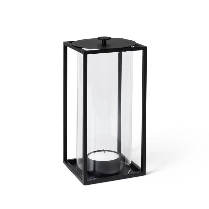 Light'In Windlicht H 24 cm, schwarz von by Lassen