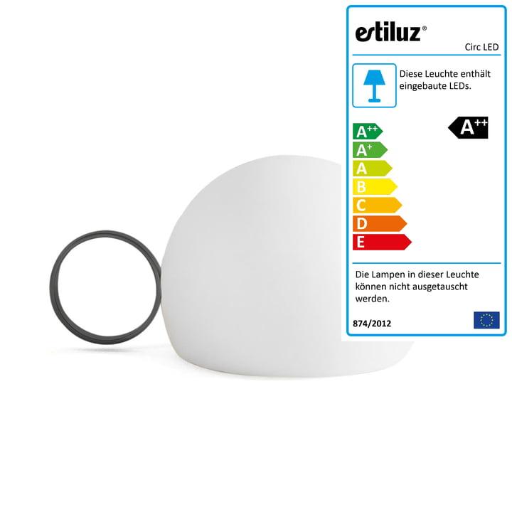 Circ LED Akku-Tischleuchte M-3726 von Estiluz in schwarz
