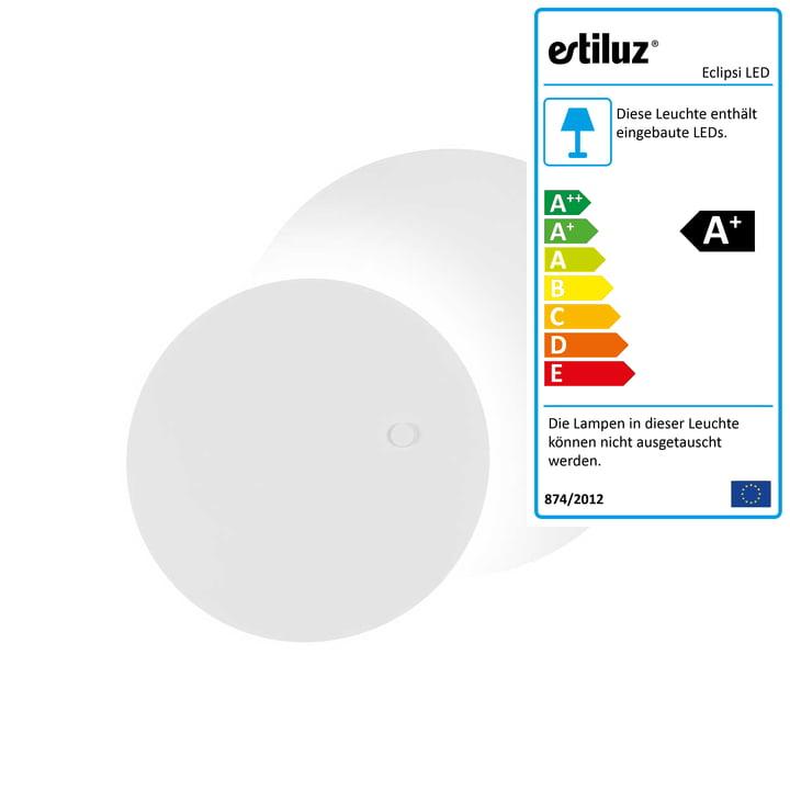 Eclipsi LED Wand- und Deckenleuchte Ø 50 cm von Estiluz in weiß