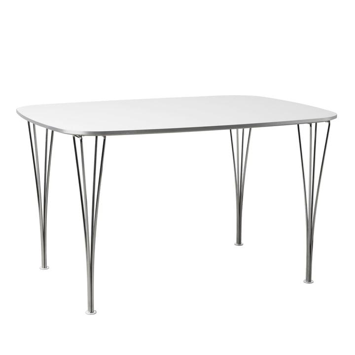 FH125 Tisch 125 x 90 cm von Fritz Hansen in Chrom / weiß