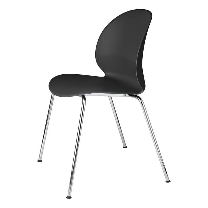Fritz Hansen - N02 Recycle Stuhl, Chrom / schwarz