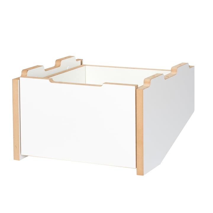 cargo Rollcontainer Grundmodul Unterteil von Tojo in weiß