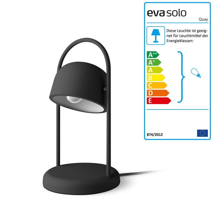 Quay Tischleuchte Ø 16 x H 40 cm von Eva Solo in schwarz