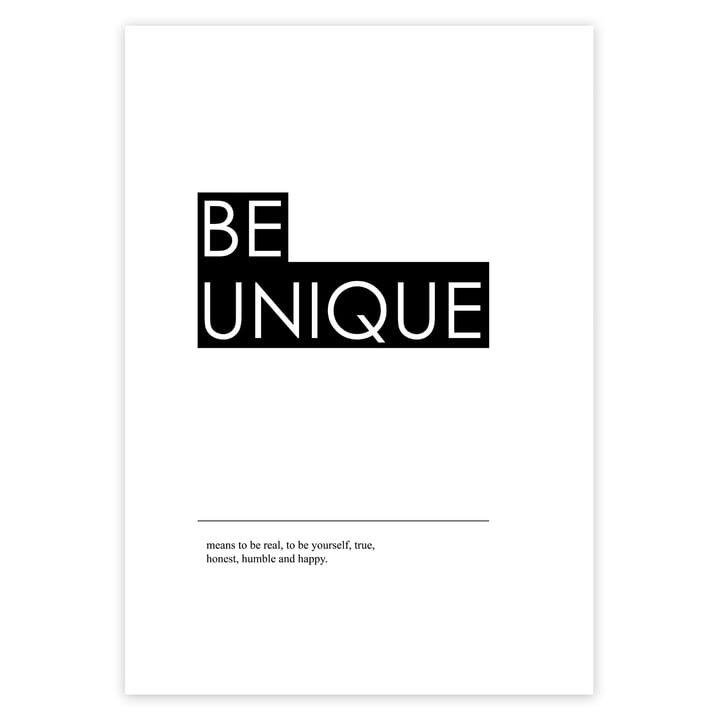 Be Unique Poster