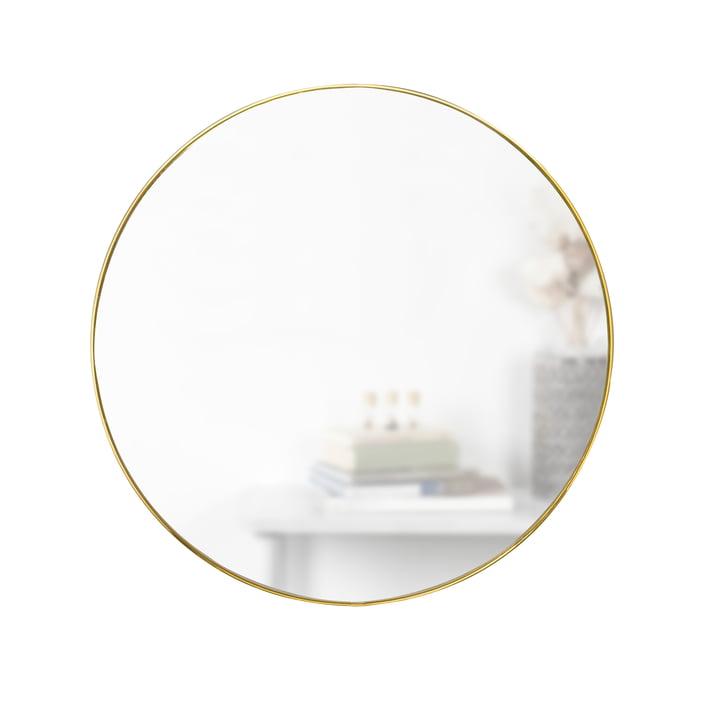 Hubba Spiegel Ø 86 cm von Umbra in Messing