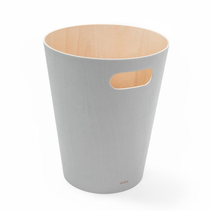 Woodrow Papierkorb von Umbra in grau