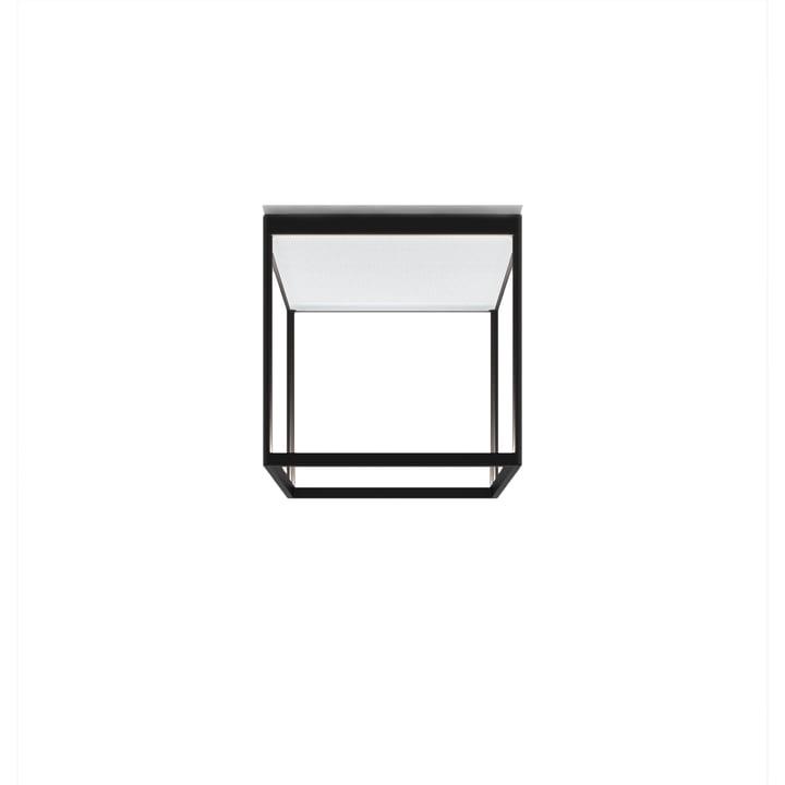 Reflex² 300 M LED-Deckenleuchte, 2700 K / 4520 lm, schwarz / Strukturglas weiß von serien.lighting