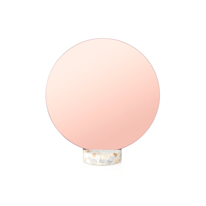 Erat Tischspiegel Ø 25 cm von Lucie Kaas in Terazzo pink