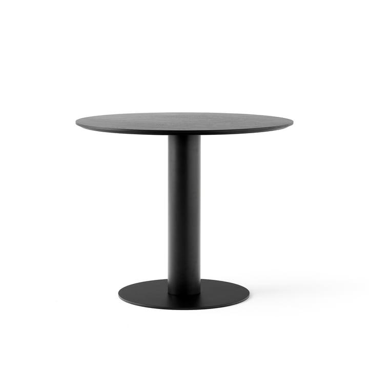 In Between Tisch SK11 Ø 90 cm von &tradition in Eiche schwarz lackiert