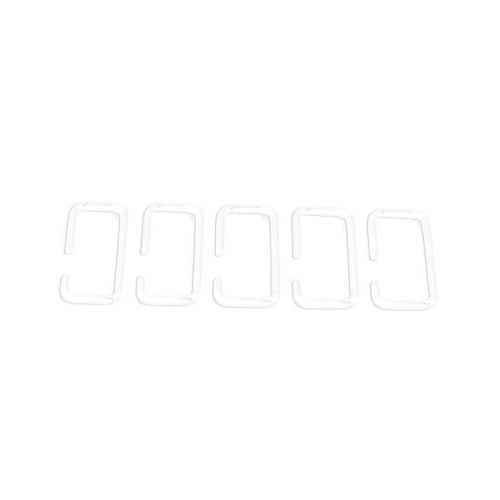 Hakenset passend für Feiner Strick & Fauler Strick Garderobe von Stadtnomaden in weiß (5-teilig)