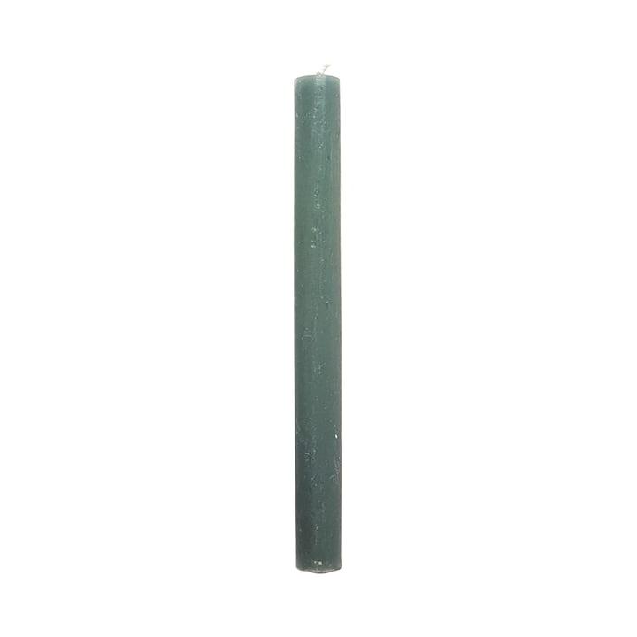 Connox Collection - Rustikale Stabkerze im 6er-Set, H 25 cm / mintgrün