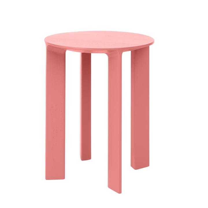 Hans Hocker & Beistelltisch Holz von Schönbuch in flamingo pink