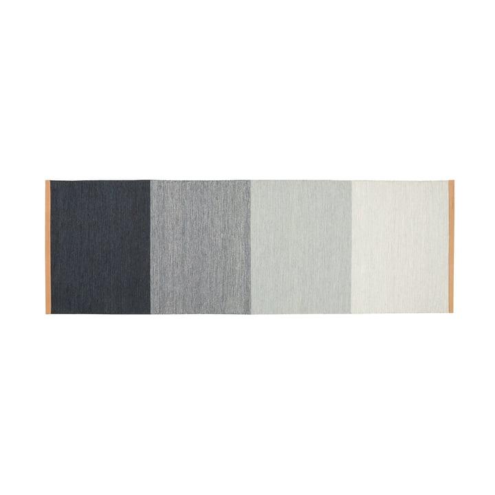 Fields Teppich 80 x 250 cm von Design House Stockholm in blau / grau