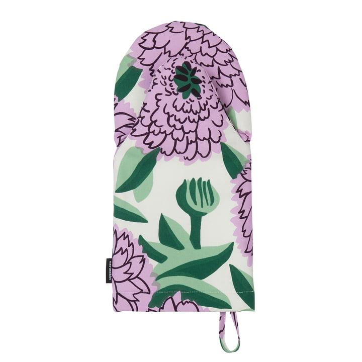 Pieni Primavera Ofenhandschuh, weiß / lila / grün von Marimekko