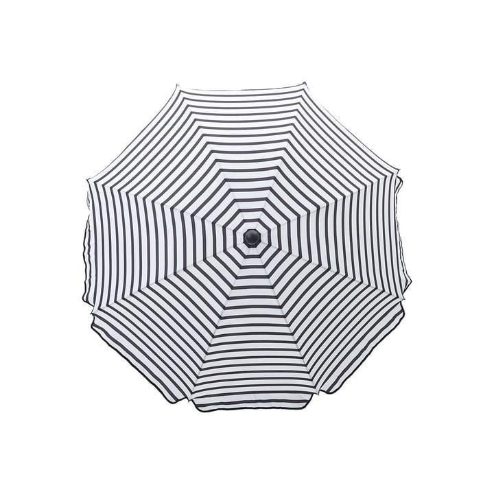 Oktogon Sonnenschirm Ø 180 cm, schwarz / weiß von House Doctor