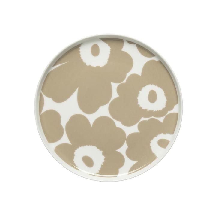 Oiva Unikko Teller Ø 20 cm, weiß / beige von Marimekko