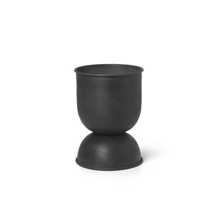 ferm Living - Hourglass Blumentopf extra-small, Ø 21 x H 30 cm, schwarz / dunkelgrau