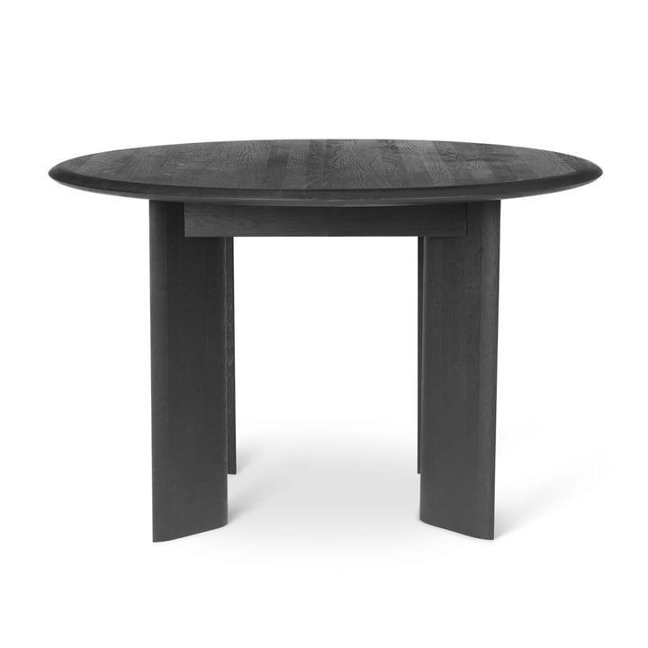 Bevel Tisch, Ø 117 x H 73 cm, Eiche schwarz geölt von ferm Living