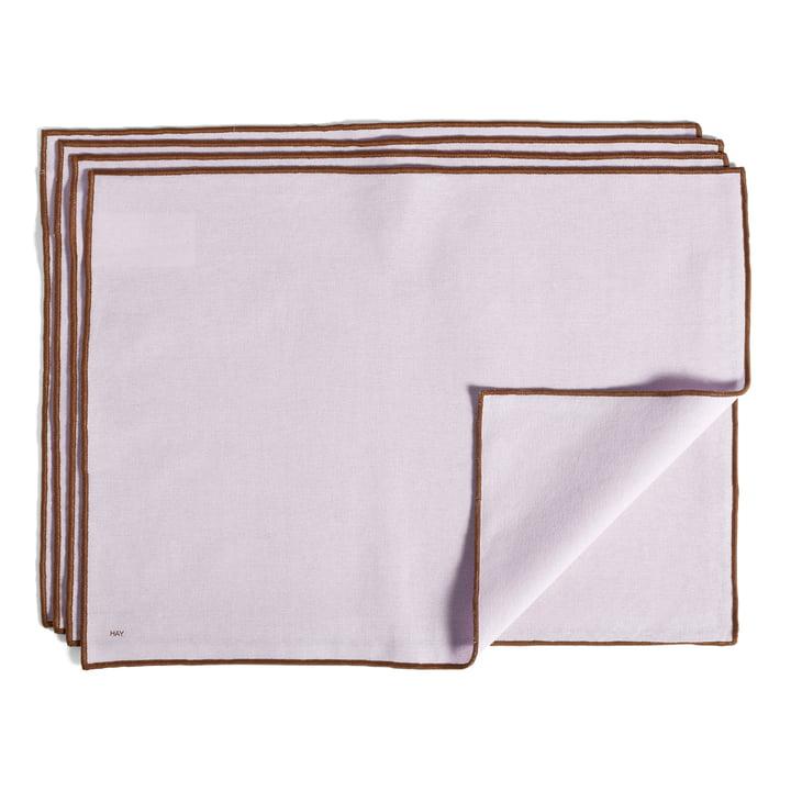 Contour Tischset, 46 x 34 cm, lavendel (4er-Set) von Hay